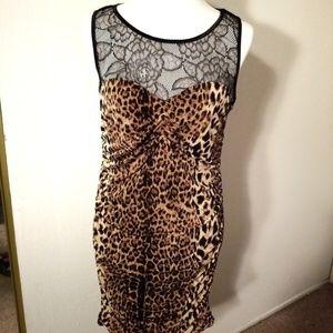 Material Girl Leopard Print Dress